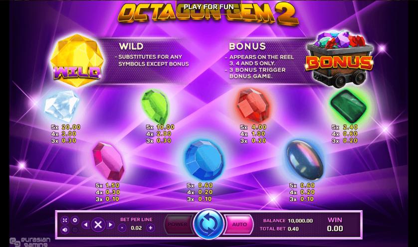 Octagon Gem 2 เพย์ไลน์