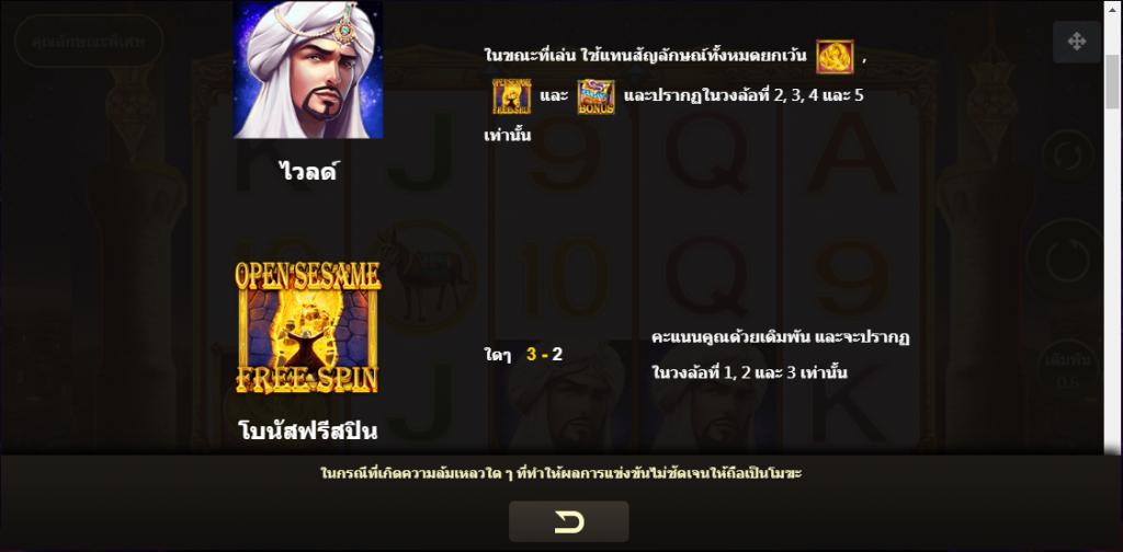 Open Sesame II Slot สัญลักษณ์