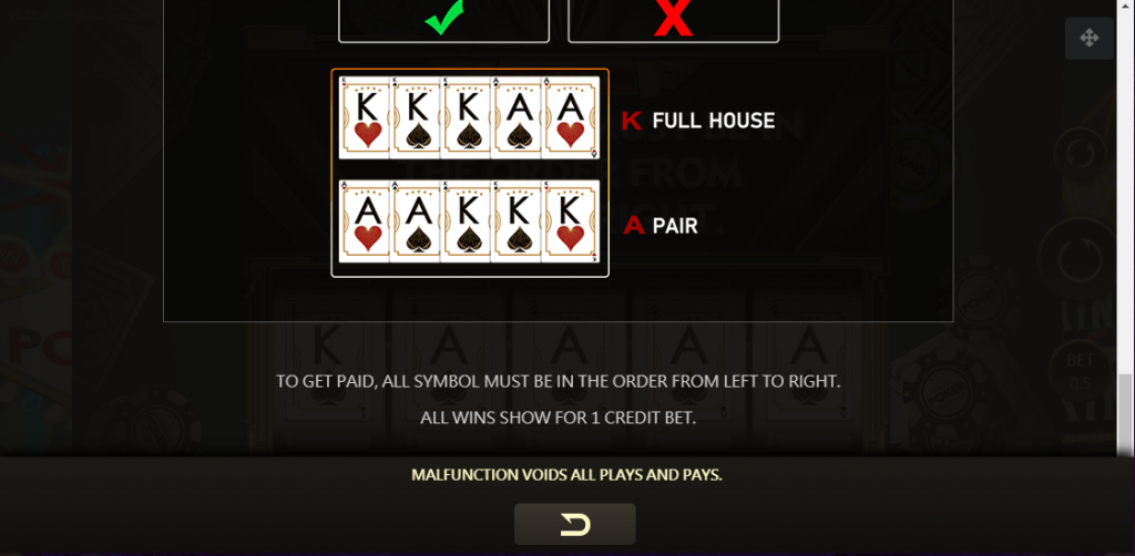 Poker King Slot สัญลักษณ์