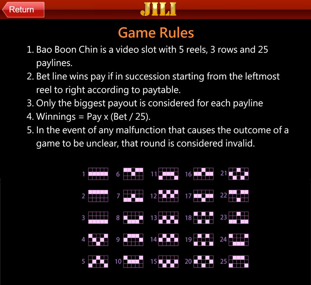 เพย์ไลน์ การจ่ายรางวัล Bao boon chin