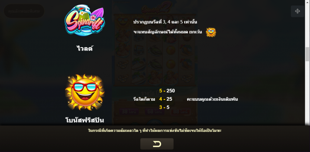 Spindrift2 Slot สัญลักษณ์