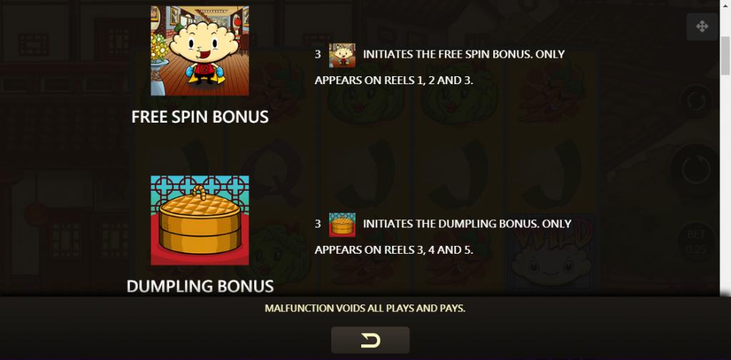 Super Dumpling Slot สัญลักษณ์