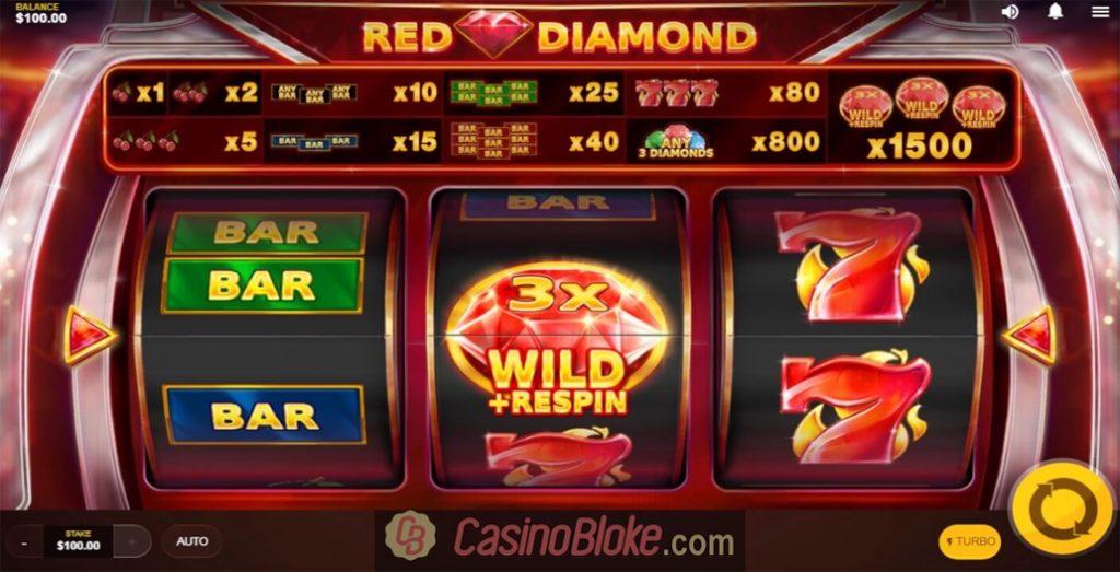 Red Diamond Slot สัญลักษณ์