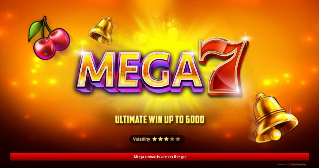 MEGA 7 สล็อตออนไลน์ spadegaming ฟรีเครดิต