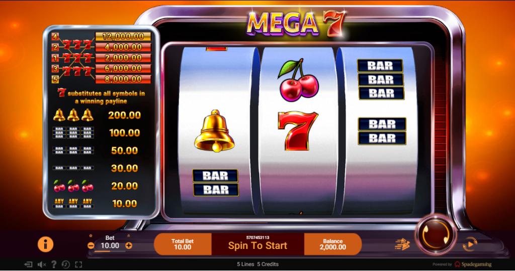 Mega7 Slot